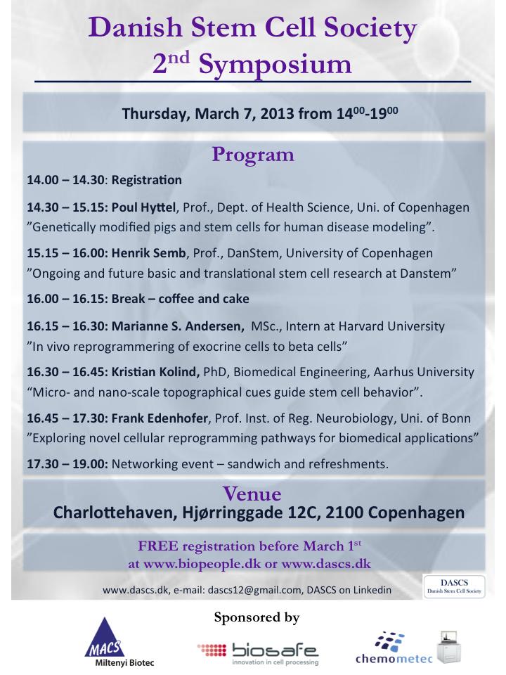 DASCS Program March 7 2013